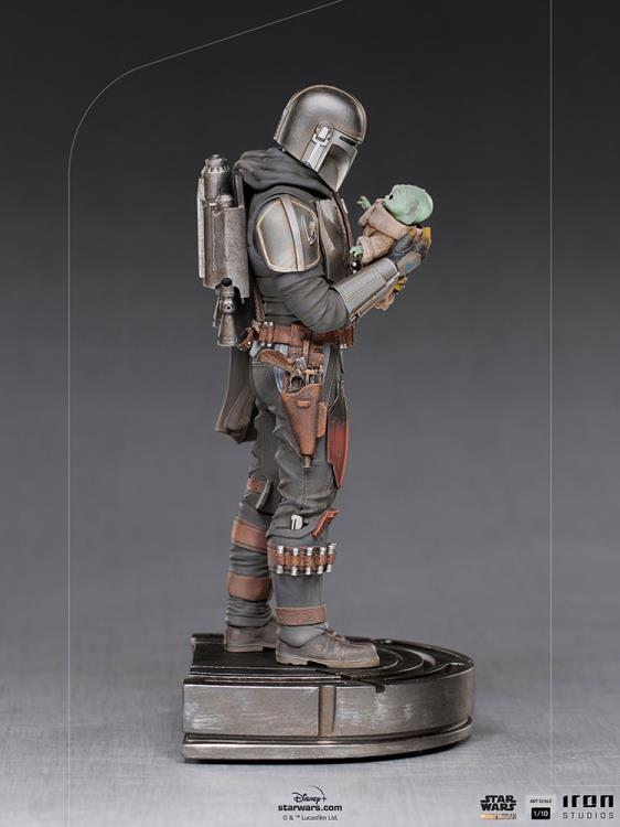 IRON STUDIOS : The Mandalorian and Grogu 1/10 Deluxe Art Scale Limited Edition Statue 78c769df-6532-4053-9614-4206c254f4b2