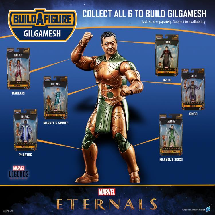 HASBRO : Marvel Legends - Eternals Marvel Legends Wave 1 Set of 7 Figures (Gilgamesh BAF)-2021 D1086068-3c8c-42af-a6a2-fad017aad4a6