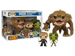 Pop! Star Wars Rancor, Jedi Master Luke, & Slave Oola Vinyl Figure 3 Pack PX Exclusive