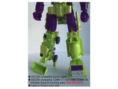 CDMW-02J  Construction Brigade Power Parts Custom Hips/Waist (Encore - Purple Thighs)