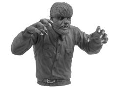 Universal Monsters Wolfman Black & White Bust Bank