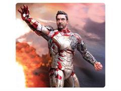 1/9 Scale Iron Man Mark 42 Battle Damaged Model Kit - Painted