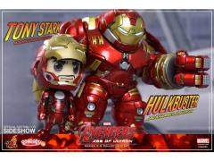 Avengers Age of Ultron Cosbaby Vinyl Collectible Series 02.5 Collectible Set Hulkbuster & Tony Stark