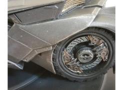 Batman Arkham Knight Batmobile Statue Bookend PX Previews Exclusive