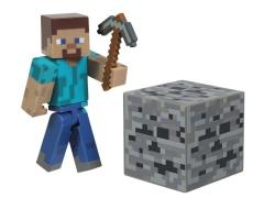 """Minecraft 3"""" Core Steve With Accessory"""