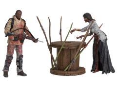 The Walking Dead TV Series Deluxe Box Set - Morgan With Walker & Trap