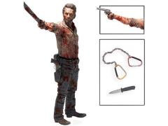 "The Walking Dead TV Series Deluxe 10"" Figure - Rick Grimes Vigilante Edition"