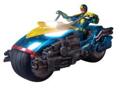1:12 Scale Judge Dredd Action Figure With Bike Box Set PX Previews Exclusive