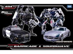Transformers APS-03 Decepticon Barricade & Soundwave Two Pack With Mini Frenzy (With Bonus)