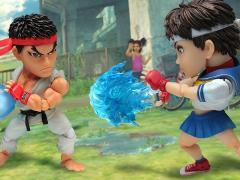 Street Fighter IV Kids Nations GM-01 Action Figure Two Pack - Ryu Vs. Sakura