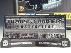 Transformers Masterpiece MP-01B Die-cast Name Plate For Convoy (Black Version)