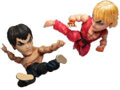 Street Fighter IV Kids Nations GM-02 Action Figure Two Pack - Ken Vs. Fei Long