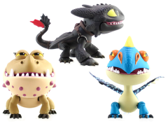 How To Train Your Dragon Action Vinyls: Series 01 Set of 3 - Dragons