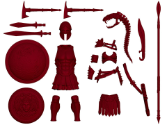 Vitruvian H.A.C.K.S. Accessory Pack - Blood Red