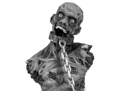 The Walking Dead Zombie Bust Bank Pet Zombie Black & White