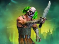 Batman Arkham City Action Figure Series 03 - Green Hair Clown Thug with Knife