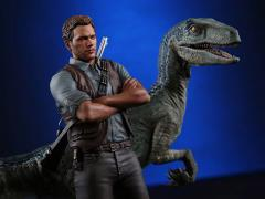 Jurassic World Owen & Blue 1/9 Scale Statue