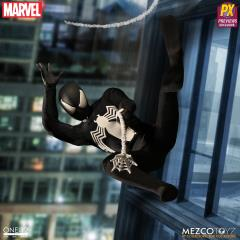 Mezco One:12 Spiderman Black Spider-man Symbiote PX Preview Exclusive