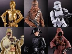 "Star Wars 40th Anniversary The Black Series 6"" Wave 21 Set of 6 Figures"