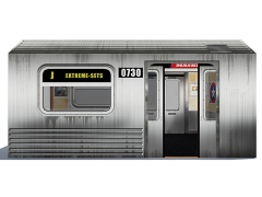Subway Train 1/12 Scale Pop-Up Diorama