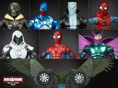 Spider-Man Marvel Legends Wave 6 Set of 7 Figures (Flight Gear BAF)