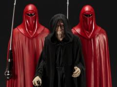 Star Wars ArtFX+ Emperor Palpatine With Royal Guards Statue Three-Pack