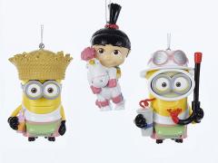 Despicable Me Agnes & Minions Ornaments Set of 3