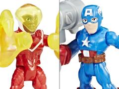 Marvel Super Hero Adventures Power Up Captain America & Marvel's Falcon Two-Pack