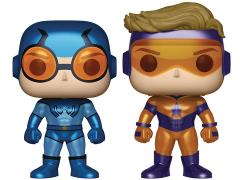 Pop! Heroes: Booster Gold & Blue Beetle (Metallic) Two-Pack PX Previews Exclusive