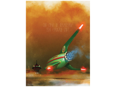 Futurama Planet Express Delivery Service Lithograph