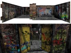 Deranged Alley (2.0) 1/12 Scale Pop-Up Diorama