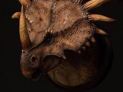 Styracosaurus (Brown) Paleontology World MUS004B Collectible Museum Series Bust