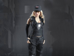 Tactical Female Shooter (Black) 1/6 Scale Accessory Set