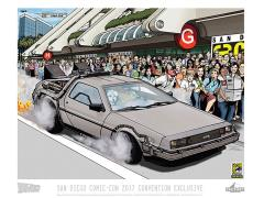 Back To the Future SDCC 2017 Exclusive Lithograph