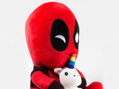 Marvel HugMe Deadpool With Unicorn Plush