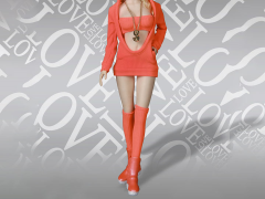 Sexy Cute Sweater Suit (Orange) 1/6 Scale Accessory Set