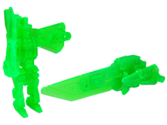 Transformers Prime Arms Micron Rainbow Shield Clear Green Blade Exclusive