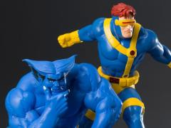 X-Men '92 ArtFX+ Cyclops & Beast Statue Two-Pack