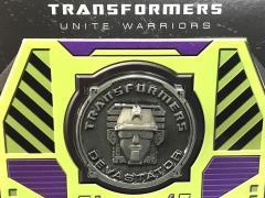 Transformers Unite Warriors UW-04 Devastator Collector Coin