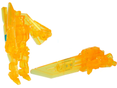 Transformers Prime Arms Micron Rainbow Shield Clear Yellow Blade Exclusive