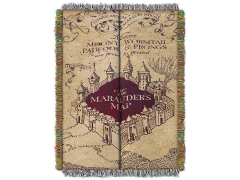 Harry Potter Marauder's Map Woven Tapestry Throw Blanket