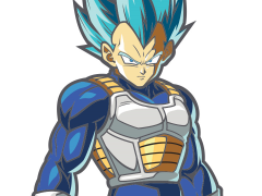 Dragon Ball FighterZ FigPin Super Saiyan God Super Saiyan Vegeta
