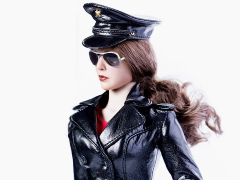 The Queen Style Leather Suit (Black) 1/6 Scale Accessory Set