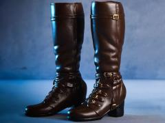 Female High Heel Boots (Brown) 1/6 Scale Accessory Set