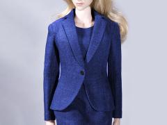 Office Lady Dress Suit (Blue) 1/6 Scale Accessory Set