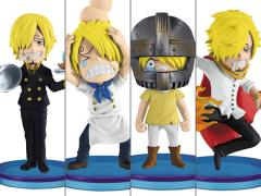 One Piece World Collectable Figure History of Sanji Set 4 Figures