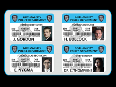 Gotham G.C.P.D. ID Badge Set