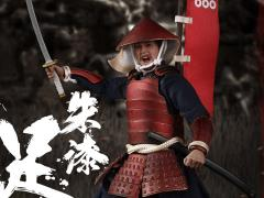 Japanese Samurai Palm Empire Ashigaru (Red Armor) 1/12 Scale Figure