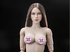 Super Model Head Sculpt (Brunette) & Female Body 1/6 Scale Set