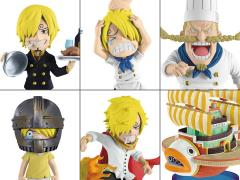 One Piece World Collectable Figure History of Sanji Set of 6 Figures